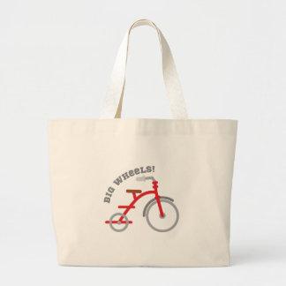 Big Wheels! Large Tote Bag