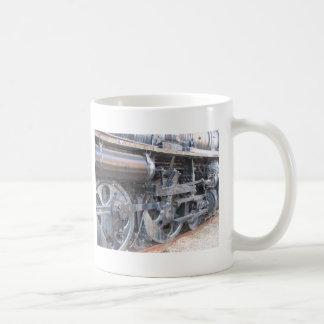 Big Wheels of a Majestic Iron Horse Railroad Train Classic White Coffee Mug