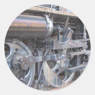 Big Wheels of a Majestic Iron Horse Train Classic Round Sticker