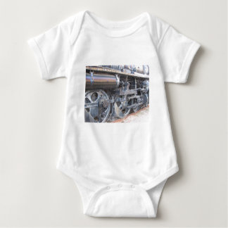 Big Wheels of a Majestic Iron Horse Train Railroad Baby Bodysuit