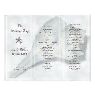 Big Whelk Shell Tri-Fold Wedding Program