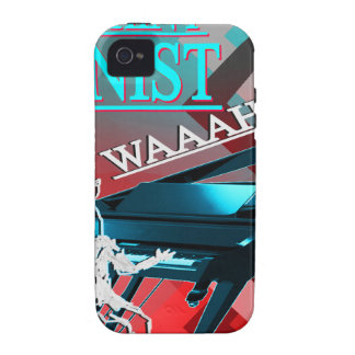 """""""Big Whiny Pianist"""" Blue and Red Case-Mate iPhone 4 Covers"""