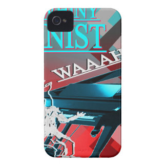 """""""Big Whiny Pianist"""" Blue and Red iPhone 4 Case"""