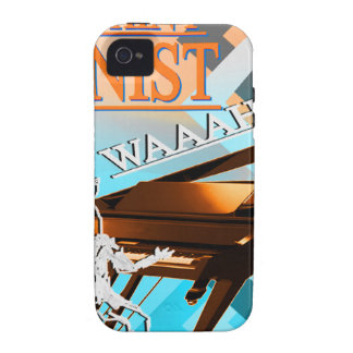 Big Whiny Pianist Cyan & Orange iPhone 4 Cover
