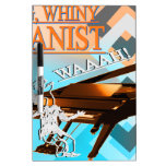 Big Whiny Pianist Cyan & Orange Dry Erase Whiteboards