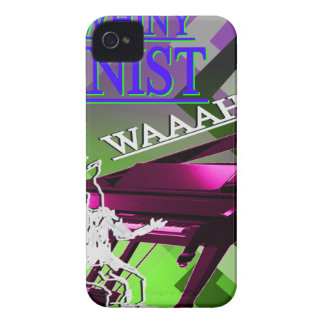 """""""Big Whiny Pianist"""" Green, Pink, and Blue iPhone 4 Cover"""