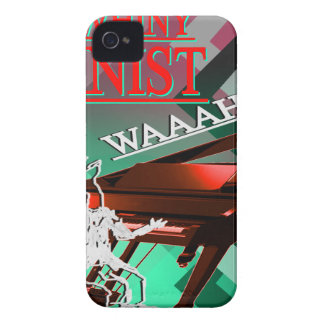 """""""Big Whiny Pianist"""" Red and Green iPhone 4 Covers"""