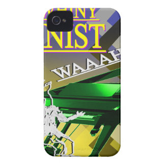 """""""Big Whiny Pianist"""" Yellow and Green iPhone 4 Cover"""