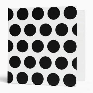 Big White and Black Polka Dots 3 Ring Binder