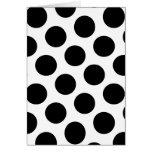 Big White and Black Polka Dots Cards