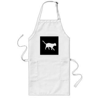 big white cat long apron