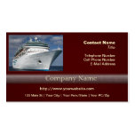 Big White Cruise Ship Double-Sided Standard Business Cards (Pack Of 100)
