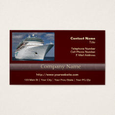 Big White Cruise Ship Business Card at Zazzle