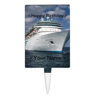 Big White Cruise Ship Cake Topper