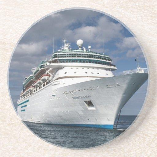 Big White Cruise Ship Coaster  Zazzle