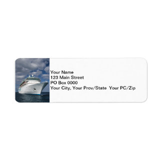 Big White Cruise Ship Label