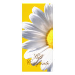 Big White Daisy On Yellow Gift Certificate Personalized Rack Card
