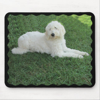 BIG WHITE DOG -MOUSEPAD