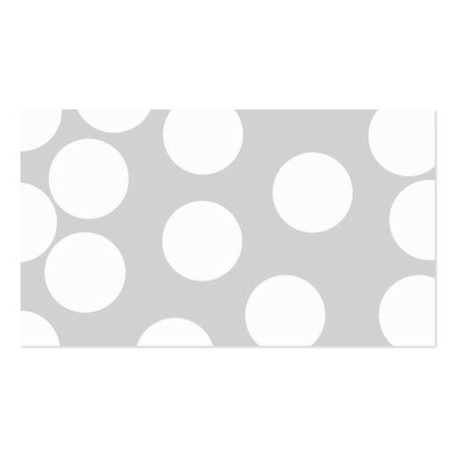 Big white dots on gray background. business card
