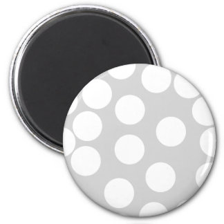 Big white dots on gray background. magnet