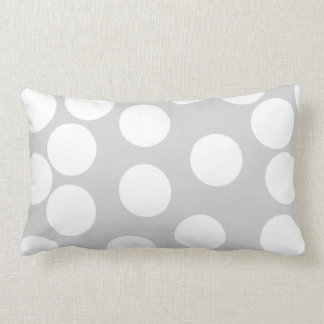Big white dots on gray background. pillow