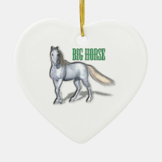 Big White Horse Ceramic Ornament