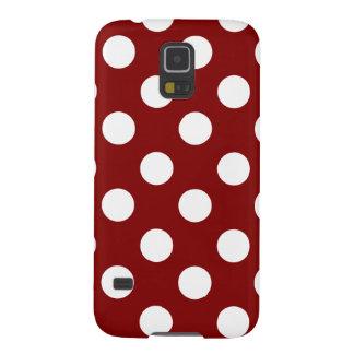 Big White Polka Dots on Maroon Galaxy Nexus Cover