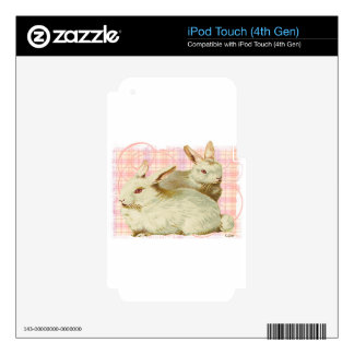 Big White Rabbits iPod Touch 4G Decals