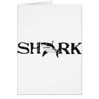 big white shark card