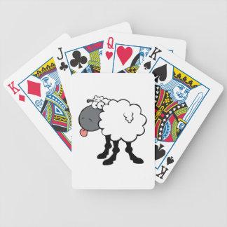 Big White Sheep Bicycle Playing Cards