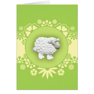 Big White Sheep Card