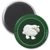 Big White Sheep Magnet