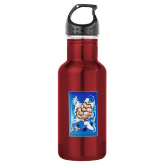Big White Turtle and Friends 18oz Water Bottle