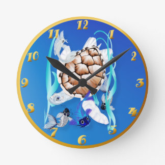 Big White Turtle and Friends Clocks