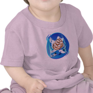 Big White Turtle and Friends Oval Tee Shirts