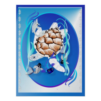 Big White Turtle and Friends Poster