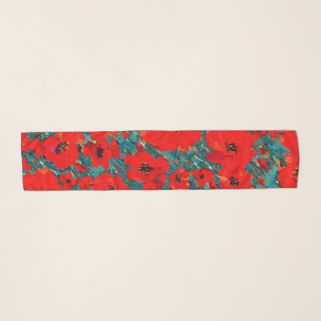 Big Wild Red Poppies Scarf