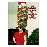 Big Xmas Hair Humor Holiday Card