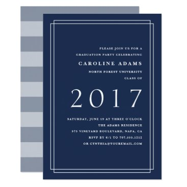 Professional Business Big Year Graduation Party Invitation | Navy