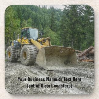 Big Yellow Bulldozer Tractor Heavy Equipment Drink Coaster