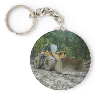 Big Yellow Bulldozer Tractor Heavy Equipment Keychain