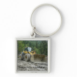 Big Yellow Bulldozer Tractor Heavy Equipment Keychain
