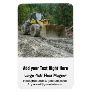 Big Yellow Bulldozer Tractor Heavy Equipment Magnet