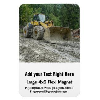Big Yellow Bulldozer Tractor Heavy Equipment Magnet
