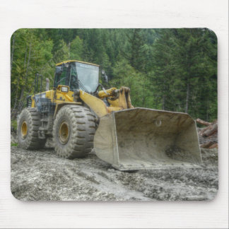 Big Yellow Bulldozer Tractor Heavy Equipment Mouse Pad