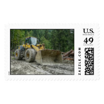 Big Yellow Bulldozer Tractor Heavy Equipment Postage