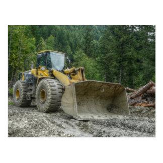Big Yellow Bulldozer Tractor Heavy Equipment Postcard