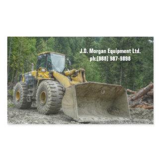 Big Yellow Bulldozer Tractor Heavy Equipment Rectangular Sticker