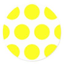 Big Yellow Dots Classic Round Sticker