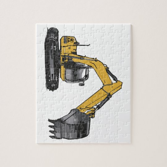 Big Yellow Excavator Jigsaw Puzzle
